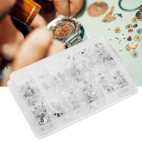 Adaptador de carcasa de reloj, tornillo de sujeción de carcasa de reloj, 240 piezas Adaptador de abrazadera de carcasa de reloj Arandela de tornillo de sujeción de movimiento de carcasa para ETA 2824