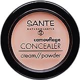SANTE Naturkosmetik Camouflage Concealer, 01 Beige, Deckt Schatten & Makel ab, Zum Contouring geeignet, Vegan, 2x3g Doppelpack