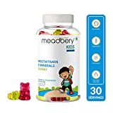 MEADBERY Multivitamin and Mineral Gummy Bears Gluten-Free Formula with Minerals and Vitamins B