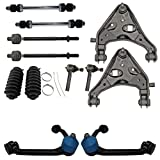 Detroit Axle - 12PC Front Upper and Lower Control Arm w/Ball Joint, Sway Bar, Inner Outer ...
