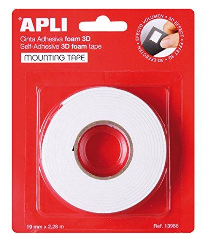 APLI 13986 - Cinta adhesiva foam doble cara (19 mm x 2,28 m)