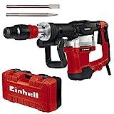 Einhell Martillo de demolición TE-DH 32 (1500 W, 32 J, 1900 min-1, portaherramientas SDS-max, mango principal amortiguado contra las vibraciones+empuñadura suave, incl. cincel de punta/plano, e-box)