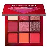 Eyeshadow Putars [ Beautiful Cosmetic Matte 9 Colors Eyeshadow -Makeup Palette Shimmer Set Eyeshadow ] - Avant-Garde appearance - Portable High Chroma Waterproof - 8x8x1.2cm(FASHION)