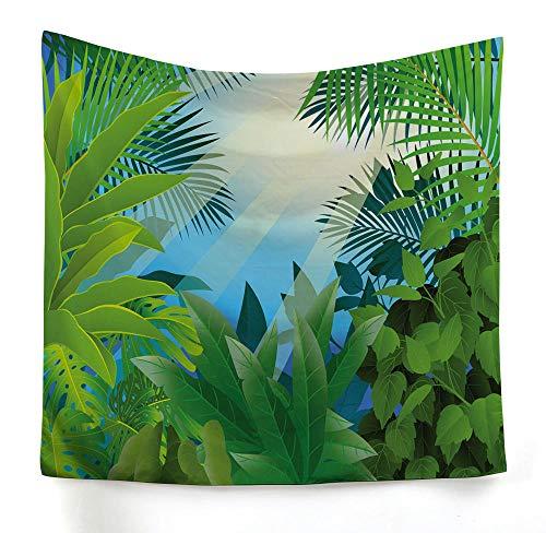 ZYLSZBD Tapiz, decoración de Dormitorio, Alfombrilla para Yoga, Toalla para Playa,Estampado de Hojas de Tela Decorativa-Imagen 7_Los 230X150cm