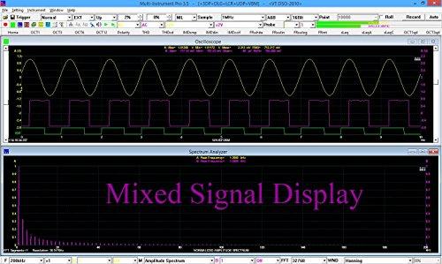 VT DSO-2A20: PC USB 10~16Bit 200MSPS 80MHz Oscilloscope, 12-bit 6.25MSPS 150kHz AWG Signal Generator