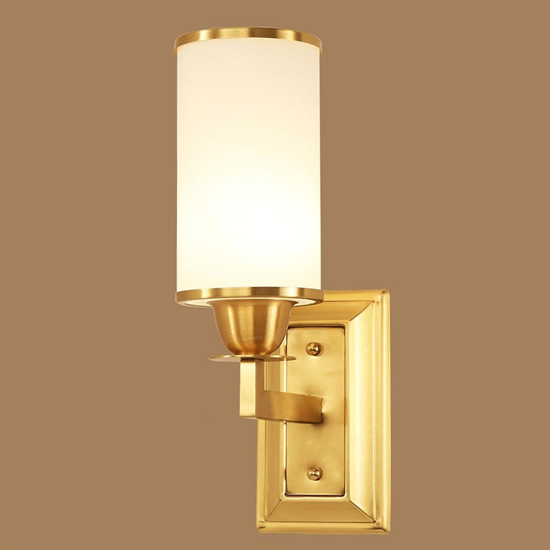 FJH Reine Kupfer Wandleuchte Schlafzimmer Nachtspiegel Licht Moderne Einfache Wohnzimmer Korridor Dekoration Nachtlicht