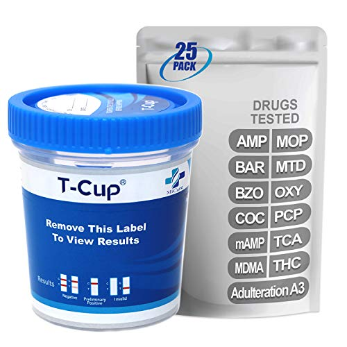 Best Deals! MiCare [25pk] – 12-Panel Multi Drug Test Cup (AMP/BAR/BZO/COC/mAMP/MDMA/MOP/MTD/OXY/PCP/TCA/THC with A3) #MI-TDOA-7125A3