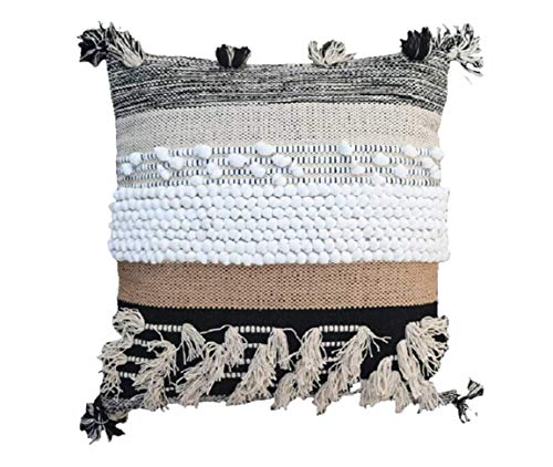 MEEM Rugs: 20 x 20 Moroccan Pillow Cover (Set of 2), Modern Pillow Cover Home Decor, Decorative Throw Pillow