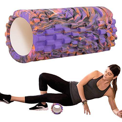 SPRINGOS Massagerolle Rolle Faszienrolle Sportrolle Fitness Yoga Pilates Massage Selbstmassage Crossfit 33 cm bunt