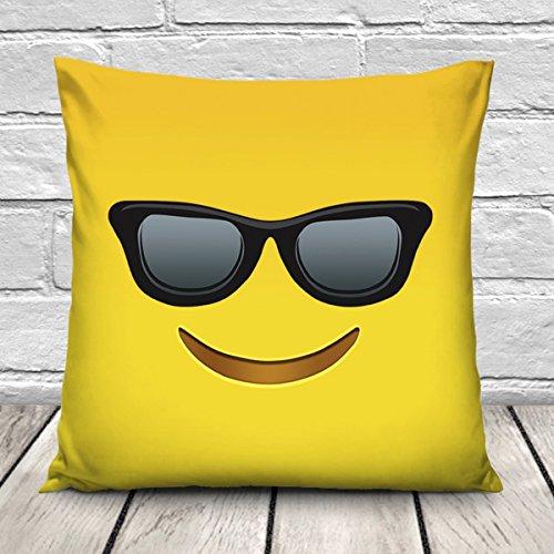 Ferocity Cojín Almohada de Softer mircofaser con Öko-Tex sin Relleno 40 x 40cm Neu Gafas de Sol Emoji Emoji Sunglasses [021]