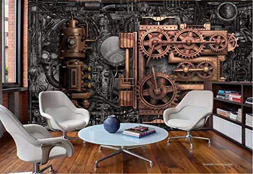 Fototapete 3D Tapete Wandbild Retro Industrielle Windmaschinen Foto Tapete 3D Effekt Wandtapete Vliestapete Wandbilder XXL Wanddeko Tapeten