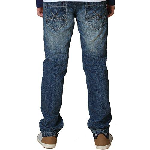 Leo&Lily Big Boys' Kids' Husky Waist Denim Regular Fit Jeans Pants (Blue,14)