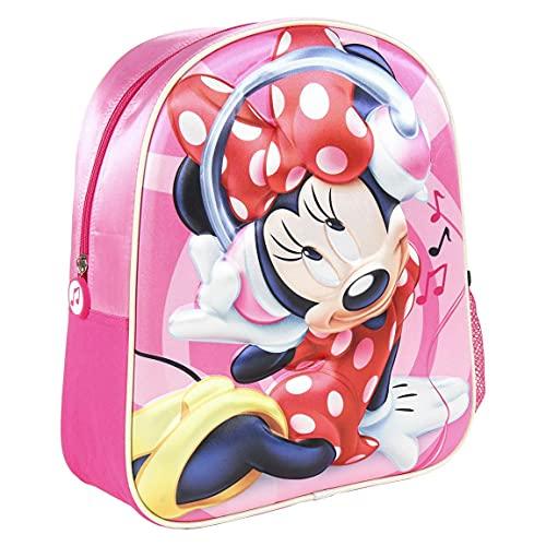 CERDÁ LIFE'S LITTLE MOMENTS - Disney Minnie Mouse Rucksack Kinder, Minnie Mouse Schulrucksack für Kinder mehrfarbig 25x31x10 cm