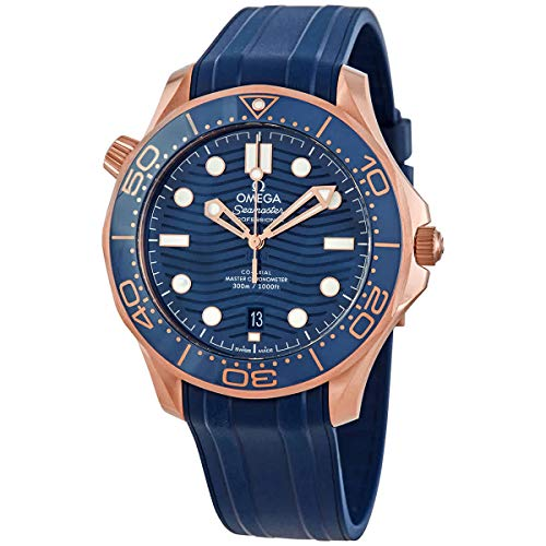 Omega Seamaster Diver 18kt Rose Gold Automatic Blue Dial Men's Watch 210.62.42.20.03.001