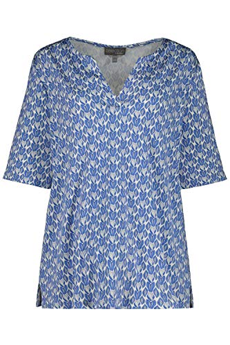 Shirt, Relaxed, Slinky mit Minimal-Design, Halbarm, Selection Mittelblau 50/52 747616 76-50+