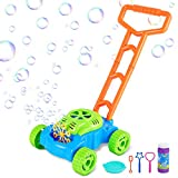 Vimzone Bubble Lawn Mower, Automatic Bubble Maker Blower Machine with Bubble Solution, Fun Bubbles Blowing Push Toys for...