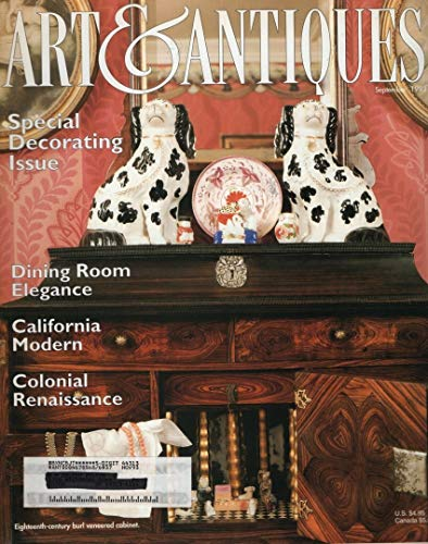 Art & Antiques, September 1993, Volume XV, Number 7: Special Decorating Issue