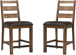 Intercon Taos Canyon Brown Rustic 24 Inch Ladderback Barstool - 2 Pack