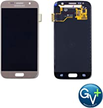 Group Vertical Replacement Screen AMOLED Digitizer Assembly Compatible with Samsung Galaxy S7 (Gold Platinum) (SM-G930) (GV+ Performance)