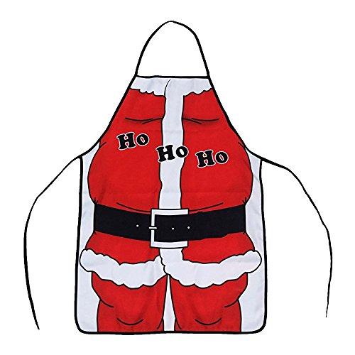Alxcio Cadeau de nouveauté Noël Tabliers avec Poche de Cuisine Accueil Jardinage Restaurant Cuisson Tablier Pour Unisexe Femmes Fille Chef,Drôle Santa Style,Taille 50*70cm