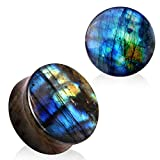 6mm AAA Grade Naturel Labradorite Pierre Selle Plug Chair Tu