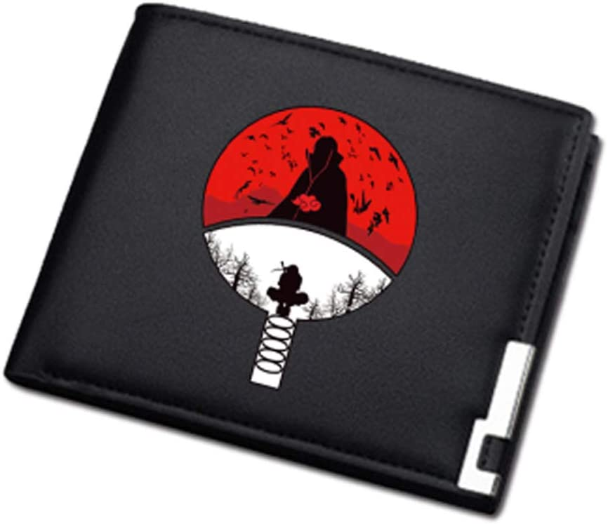 Naruto Wallet Coin Purse for Men's Women's PU Leather Wallets (Itachi)