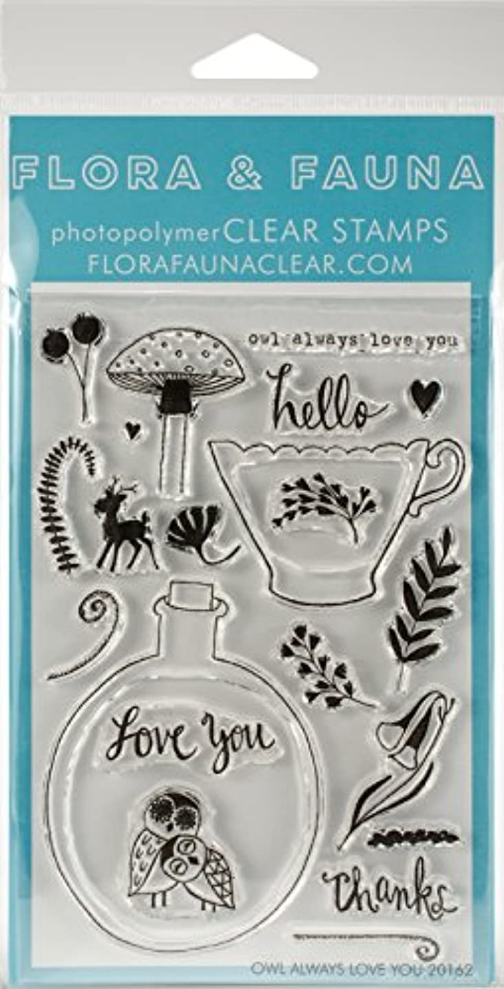 Flora & Fauna Owl Always Love You Clear Stamps 4