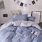 VM VOUGEMARKET Colorful Feather Bedding Duvet Cover King,100% Cotton 3 Pieces Vibrate Reversible Lightweight Duvet Cover Set with Zipper Closure-King,Feather