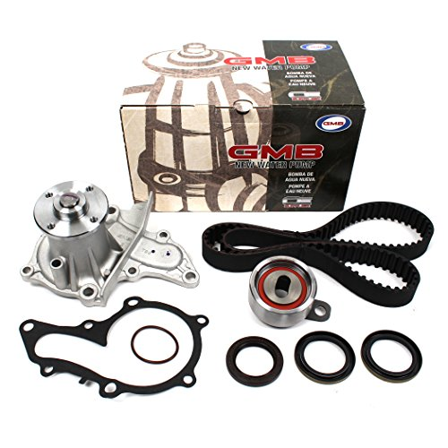 New TCK235WP (121 Teeth) Timing Belt Seal Kit & Water Pump Set (GMB w/Gasket) Compatible with 93-97 Toyota Celica Corolla & GEO Prizm 1.8L DOHC Engine 7AFE
