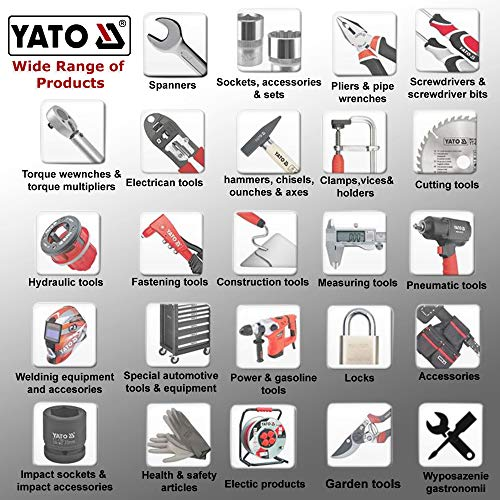 Yato c|Accuracy 0.057?=1mm/m|Shock-absorbing material|Thickness 1.5mm|Magnetic Level sensor|Red|Spirit level|Power Tools|Industrial Tools|Aluminium (YT-30063)