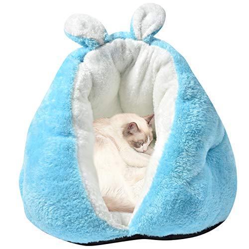 BLEVET Cama de Perros Suave y Acogedor Lavable Gato Sofá Animales Estera Profundo Sueño para el Invierno MZ127 (50 * 50 * 35CM, Blue)