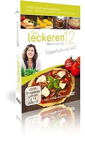 Rohkost Rezepte von Esther Faust: Die leckeren 12, Teil 3, vegane Rohkost, Rohköstlichkeiten, glutenfrei und ohne weißen Zucker, DVD, Booklet