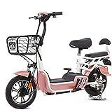XMIMI Bicicleta eléctrica Batería Booster Pedales para Llevar Mini Pequeño Paso de vejez Padre-Niño Coche eléctrico