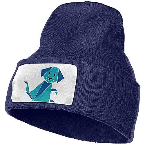 Sobre-mesa Beanie Hats Origami Hund warme Stretch Unisex Skull Ski Strickmütze Cap