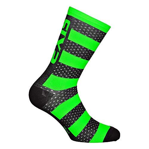 SIXS Luxury Merino Socken, Schwarz/Neongrün, Größe 43
