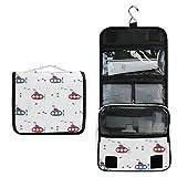 Avión Volador Blanco Bolsa de Aseo Colgante Organizador Cosmético de Viaje Ducha Bolsa de Baño Neceser de Viaje para Maquillaje niñas Mujeres