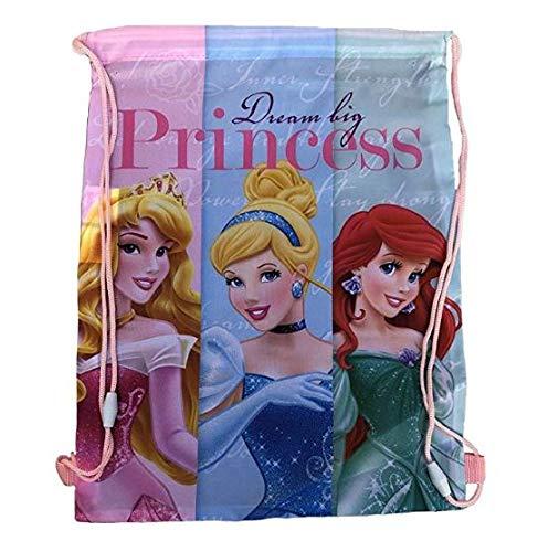 PRINCESAS - Borsa con lacci per palestra, 40 x 30 cm, multicolore