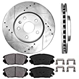 Callahan CDS02001 FRONT 321 mm D/S 5 Lug [2] Brake Rotors + [4] Ceramic Pads + Clips [fit Buick Chevrolet GMC Saab]