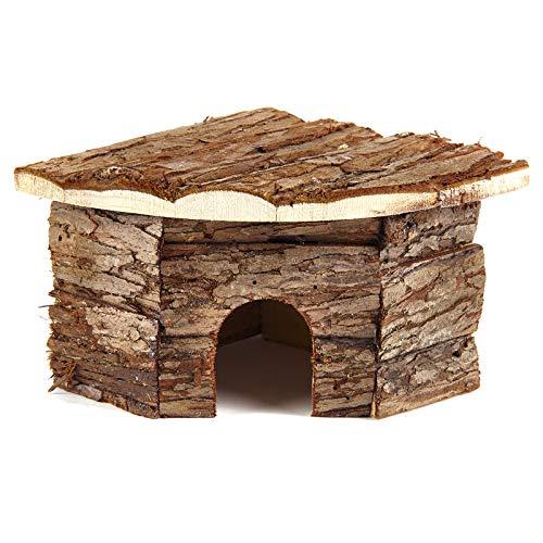 Pet Ting Natural Living Corner House para Animales Pequeños Ratones De Madera Real Hámster Gerbil Rata