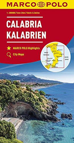 MARCO POLO Karte Italien Blatt 13 Kalabrien 1:200 000: Wegenkaart 1:200 000 (MARCO POLO Karten 1:200.000)
