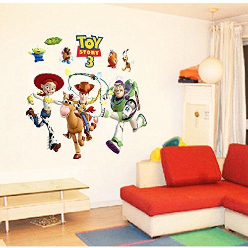 WallPicture 3D Fenster 'Toy Story Wandaufkleber/Wandtattoo, ablösbar, Vinyl, für Kinderzimmer, Wohnzimmer, TX-A0061XMK