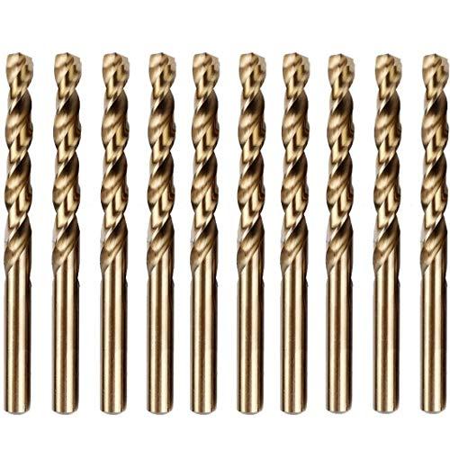 2.5mm Metallbohrer Set | Box mit 10 x Gold Bohrer HSS Cobalt | Bohrer für Edelstahl und Harte Stähle