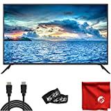 Sansui 50-Inch 4K UHD DLED TV (S50P28U) Ultra-Light Slim with Built-in HDMI, USB, High Resolution Bundle with Circuit City 6-Feet Ultra High Definition 4K HDMI Cable and Accessories