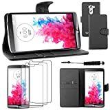 ebestStar - Coque LG G3 D855 Etui PU Cuir Housse Portefeuille Porte-Cartes Support Stand + Mini...