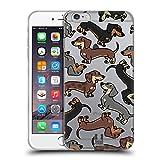 Head Case Designs Perro Salchicha Patrones de Raza de Perro 3 Carcasa de Gel de Silicona Compatible con Apple iPhone 6 Plus/iPhone 6s Plus