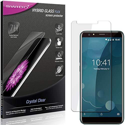 SWIDO Panzerglas Schutzfolie kompatibel mit Allview P10 Pro Bildschirmschutz-Folie & Glas = biegsames HYBRIDGLAS, splitterfrei, Anti-Fingerprint KLAR - HD-Clear