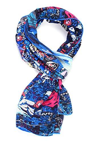 Salutto Womens 100% Charmeuse Silk Scarf Van Gogh Paul Gauguin Monet Painted Scarves 04
