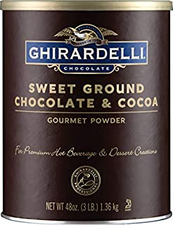 Ghirardelli Chocolate Sweet Ground Chocolate & Cocoa Beverage Mix, 48 oz Canister (B0019SE6M0) | Amazon price tracker / tracking, Amazon price history charts, Amazon price watches, Amazon price drop alerts
