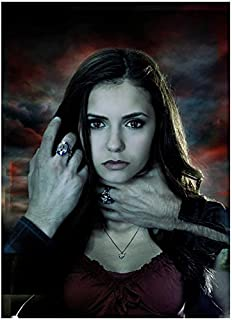 The Vampire Diaries Nina Dobrev with the Salvatore Brothers' Hands on her Face and Neck 8 x 10 inch Photo