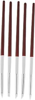Perfk 5本 ネイルアートペン ネイルブラシ プロ ネイルサロン 自宅用 3タイプ選べる - 18.5cm